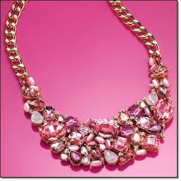 Avon Breast Cancer C21 Statement Bling Necklace