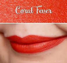 coral fever matte lipstick