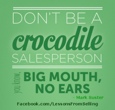 don't be a crocodile