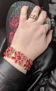 pop of red bracelet