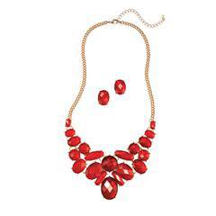 pop of red necklace set
